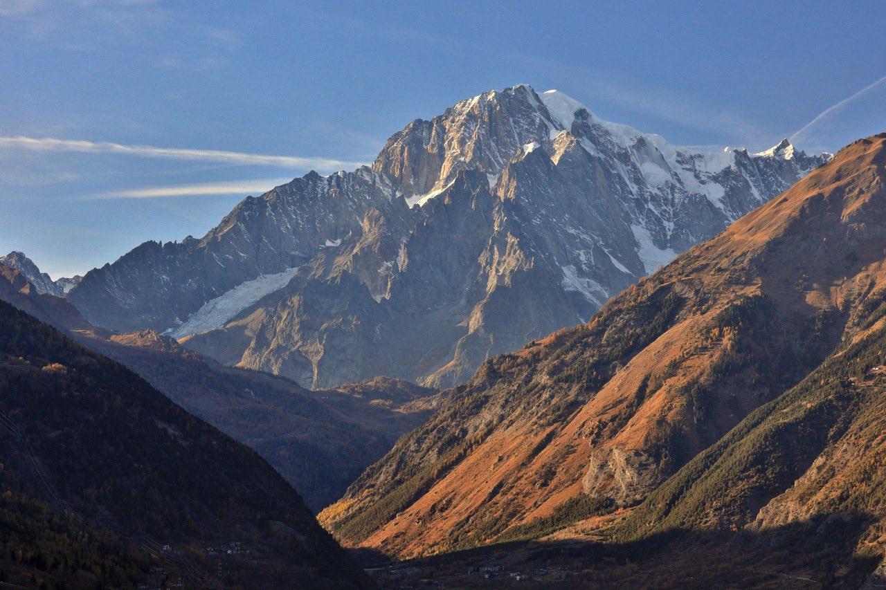 Courmayeur, le versant italien du Monte-Bianco