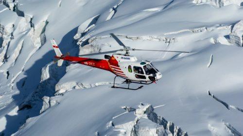 Héli-rando dans les Alpes