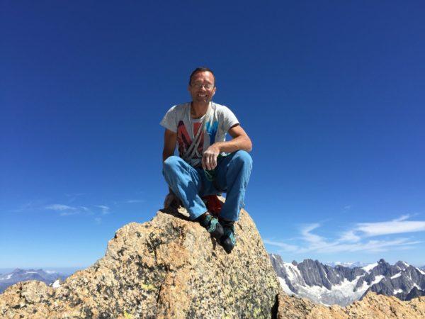 Escalade dans les alpes