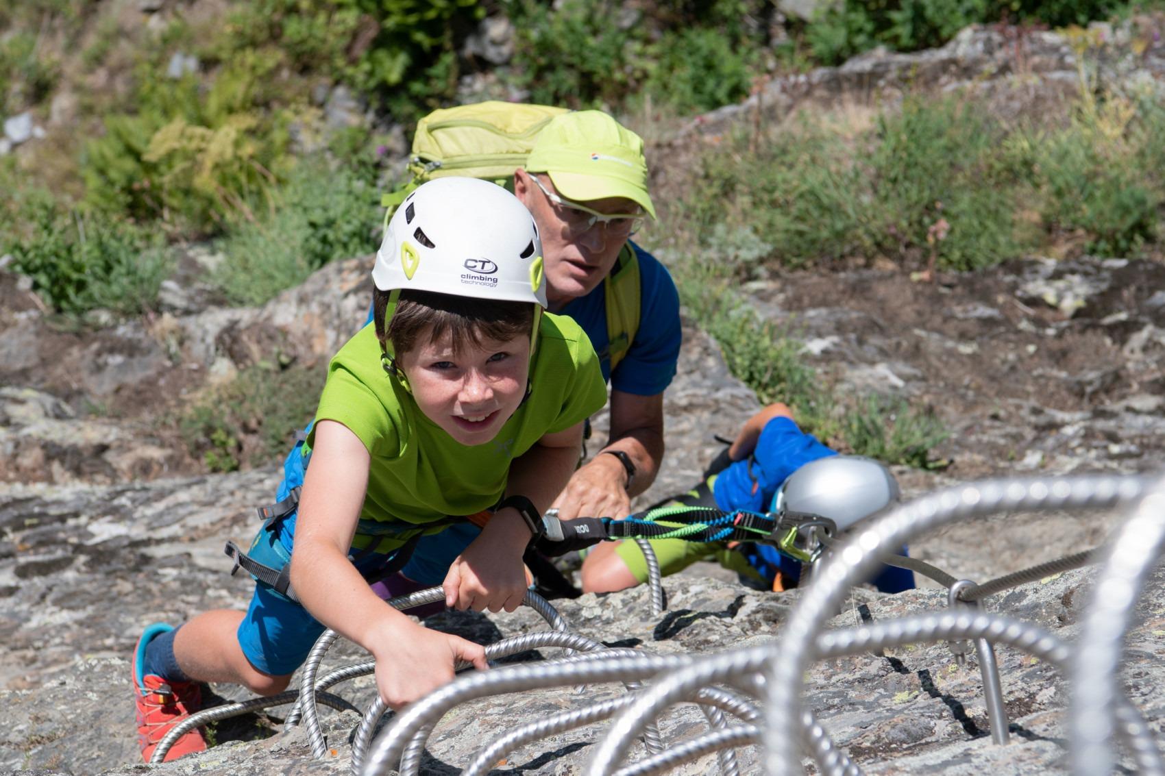Klettersteig, sportlicher Aufenthalt