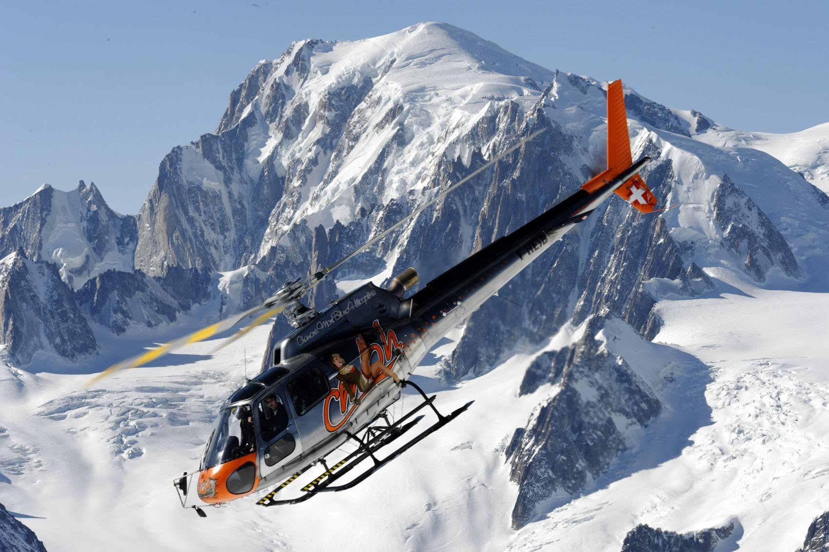Panorama-Helikopterflug, Multi-Aktiv-Urlaub in Chamonix