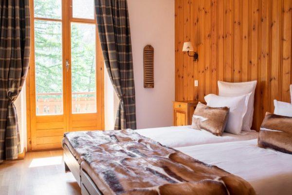 Chambre hôtel Kurhaus - Arolla - Val d'Hérens