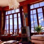Hôtel la Sage - salon - vue sur les Alpes